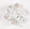 Swarovski Perlen 5328 XILION BEAD Doppelkegel 3 mm crystal moonlight