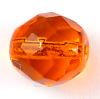 Glasschliffperlen 10 mm orange