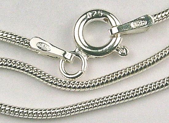 Schlangenkette  Schlangenkette 925-er Silber - Glitzerperlen