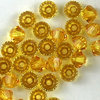 Swarovski Perlen 5328 XILION BEAD Doppelkegel 3 mm sunflower