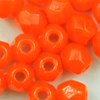 Glasschliffperlen 3 mm orange opak
