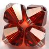 Swarovski Perlen 5328 XILION BEAD Doppelkegel 6 mm crystal red magma (SF)