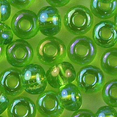 Rocailles Preciosa Glas Perlen 4,6 mm grün opak  20g