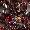SuperDuo Beads magic red - brown  2,5 x 5mm  10g