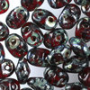 SuperDuo Beads rot - picasso 2,5 x 5mm  10g