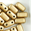 CzechMates™ Brick gold metallic matt 3x6mm 50Stk.