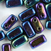 CzechMates™ Brick blau iris metallic 3x6mm 50Stk.