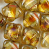 Silky Beads crystal - picasso 6mm 25Stk. Two-Hole-Beads