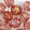Antik Glasschliffperlen 6 mm rose bronze