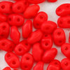 MiniDuo Beads orange - rot opak matt  2 x 4mm  10g