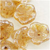 Flower Cup Beads 7x5mm crystal honey drizzle 25 Stück