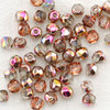 True2  Glasschliffperlen 2 mm crystal rose gold iris