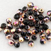 True2  Glasschliffperlen 2 mm schwarz magic capri gold